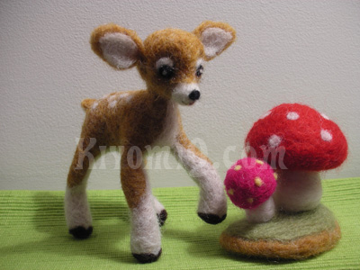 Bambi and mushrooms
