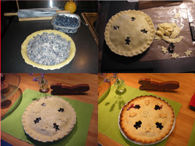 Making Blue Berry pie