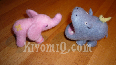 Hippo #2 and Pink Elephant