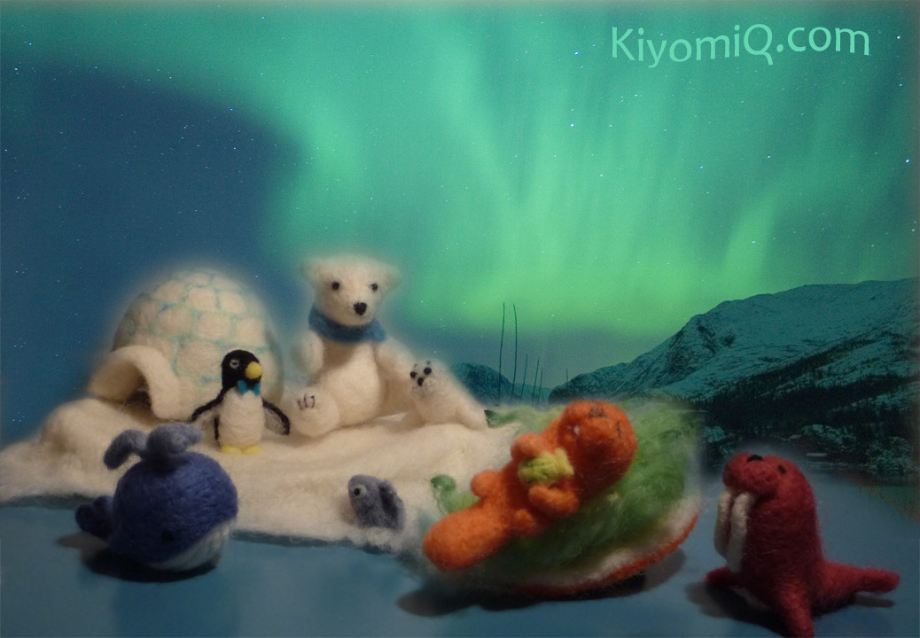 Blue whale, sea otter and walrus join the polar bear and friends