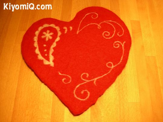 Red Heart Trivet