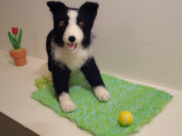 Border Collie Sculpture No.2