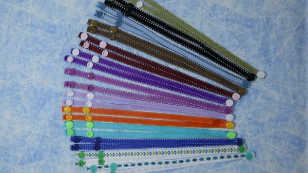 Colourful lanyards for masks; eyeglasses; reading glasses; sunglasses; badges; security tags; backstage passes, etc..