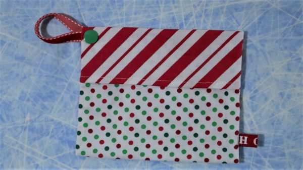 Keep your mask in this cute holiday themed pouch.