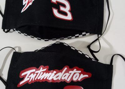 Number 3 Intimidator mask NASCAR inspired